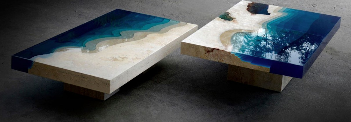 Surreal Resin Marble Tables Victoria Stone Gallery