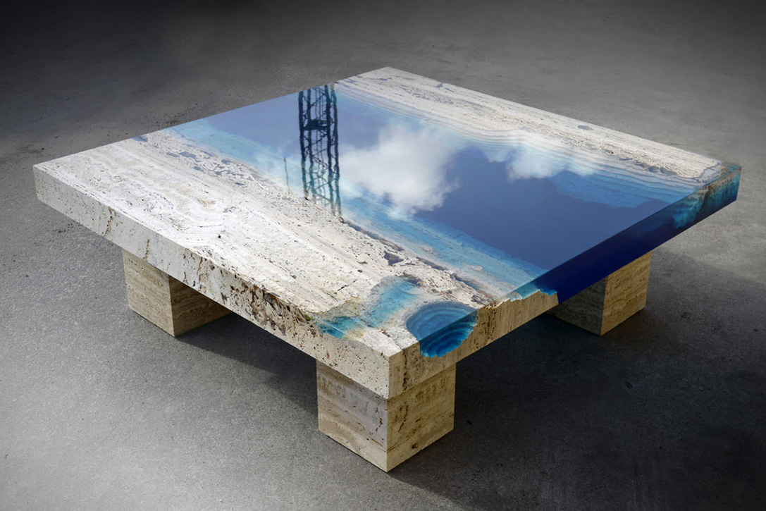 Resin & Marble Tables By Alexandre Chapelin