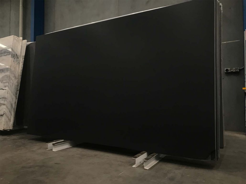 Jet Black slab, alternative to Zimbabwe Black