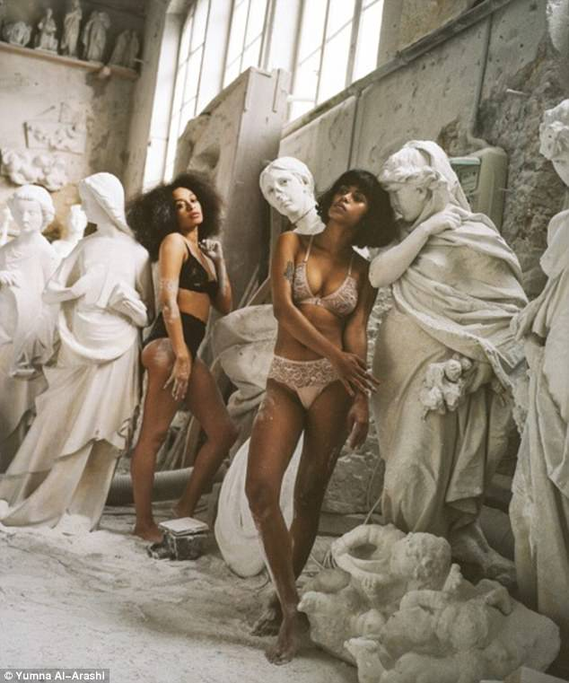 Lonely Lingerie models in Italian Carrara marble
