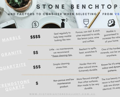 Stone Benchtop Factors Infographic VSG