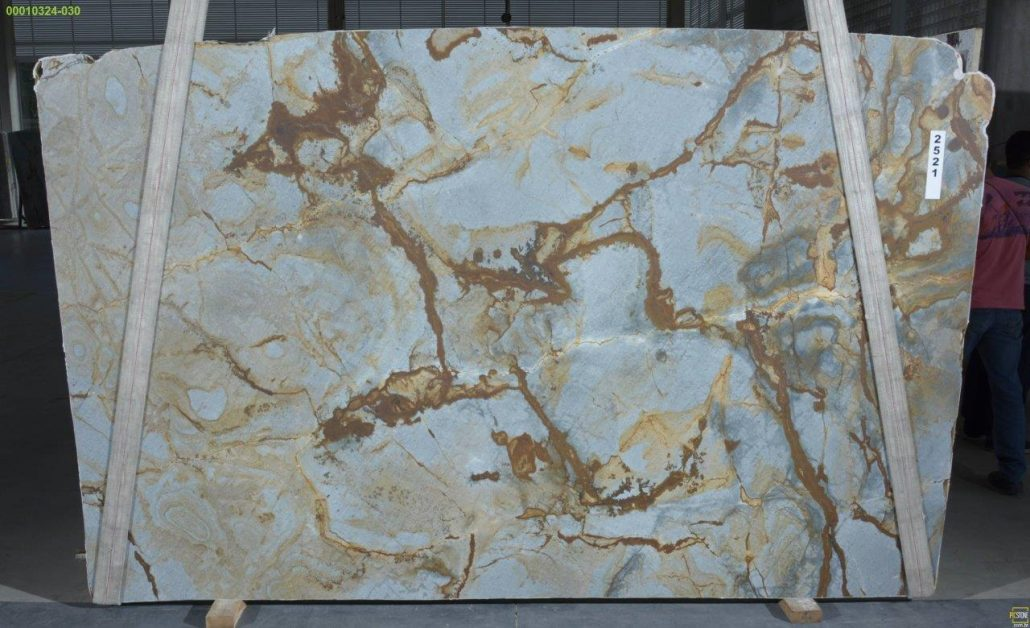 Leathered Blue Roma Quartzite from Victoria Stone Gallery