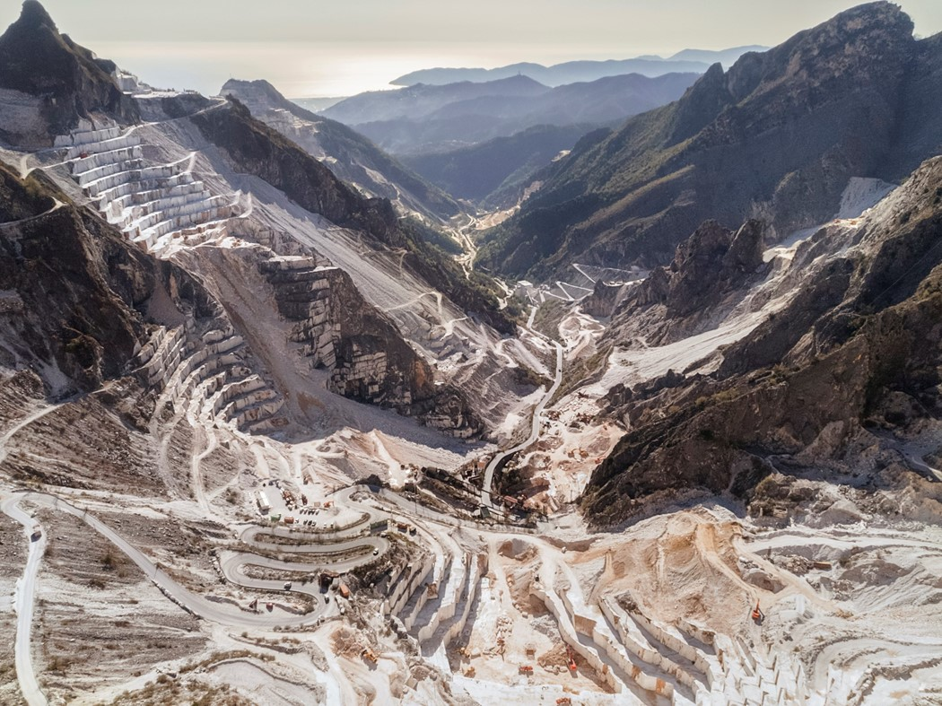 Luca Lucatelli's photograph of Italian marble quarries