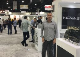 Chris from Nova Stone, representing one of many Brazilian stone companies at the Atlanta Trade Show
