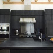 Jet Black granite kitchen benchtop